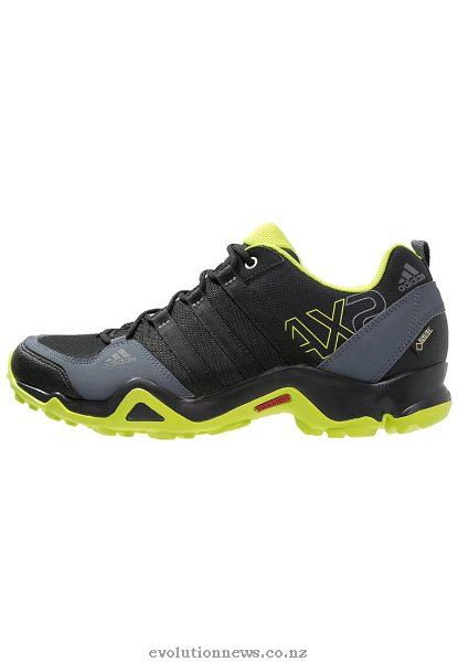 Adidas Men's AX2 GTX Walking Shoes | Core Black/Semi Solar Slime/Onix