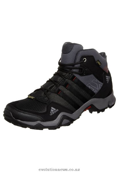 Adidas Men's AX2 Mid GTX Walking Boots | Dark Shale/Black/Light Scarlet