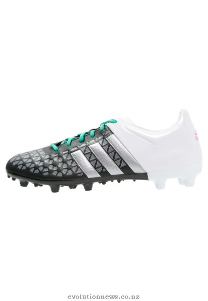 Adidas Men's Ace 15.3 FG/AG Football Boots | Core Black/Matte Silver/White