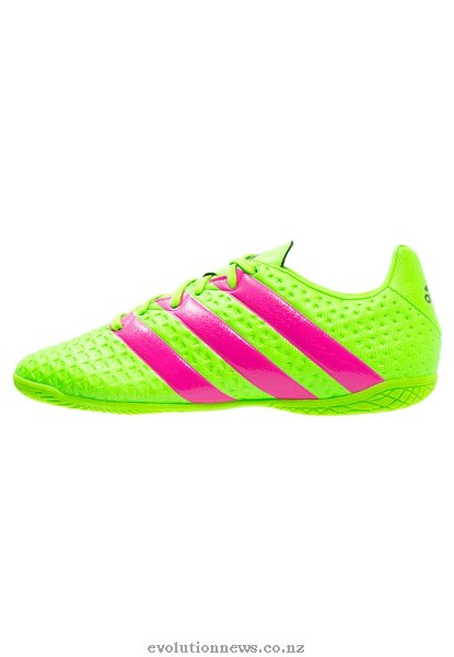 Adidas Men's Ace 16.4 In Indoor Football Shoes | Solar Green/Shock Pink/Core Black