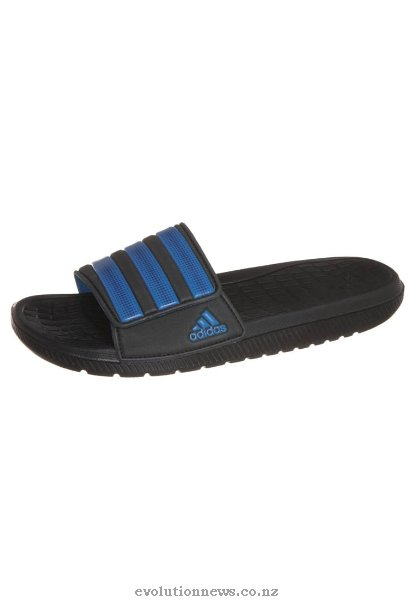 Adidas Men's Alquo Vario Sandals | Black/Tribe Blue/Solar Blue