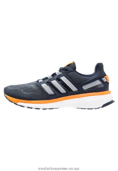 Adidas Men's Energy Boost 3 Cushioned Running Shoes | Collegiate Navy/White/Orange