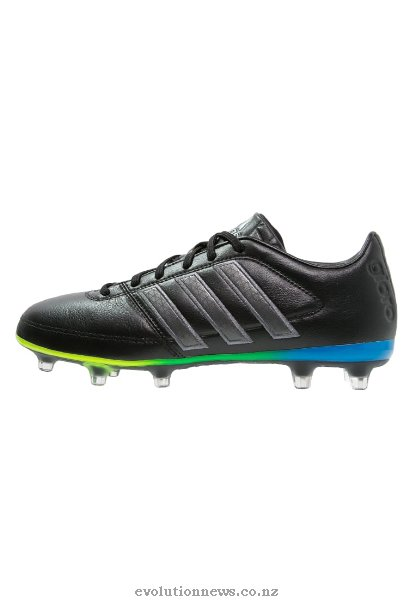 Adidas Men's Gloro 16.1 FG Football Boots | Black/Night Metallic/Solar Green
