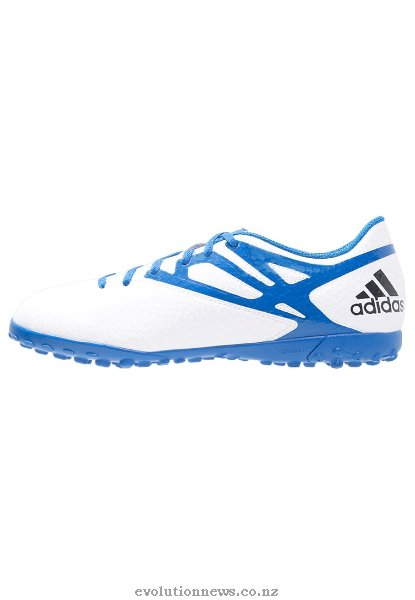 Adidas Men's Messi 15.4 TF Soccer Shoes | White/Prime Blue/Core Black