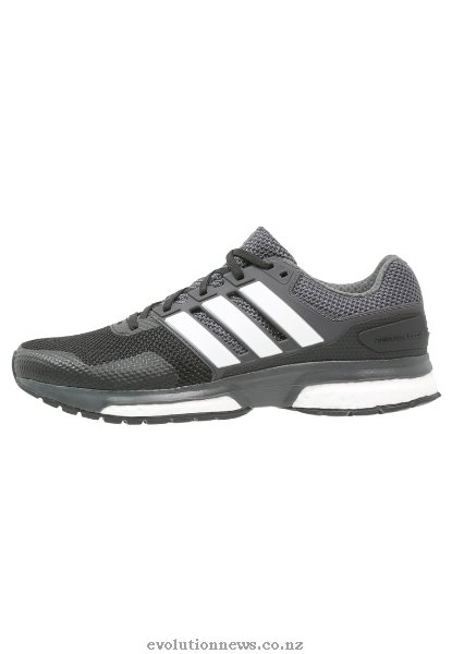 Adidas Men's Response Boost 2 Cushioned Running Shoes | Core Black/White/Solid Grey