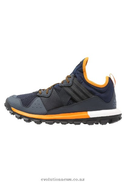 Adidas Men's Response TR Boost Trail Running Shoes | Collegiate Navy/Mineral Blue/Total Orange