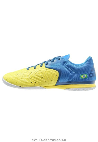 Adidas Men's X 15.2 CT Indoor Football Boots | Bright Yellow/Shock Blue/Blue