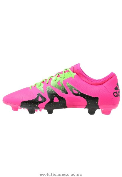 Adidas Men's X 15.2 FG/AG Football Boots | Shock Pink/Solar Green/Core Black