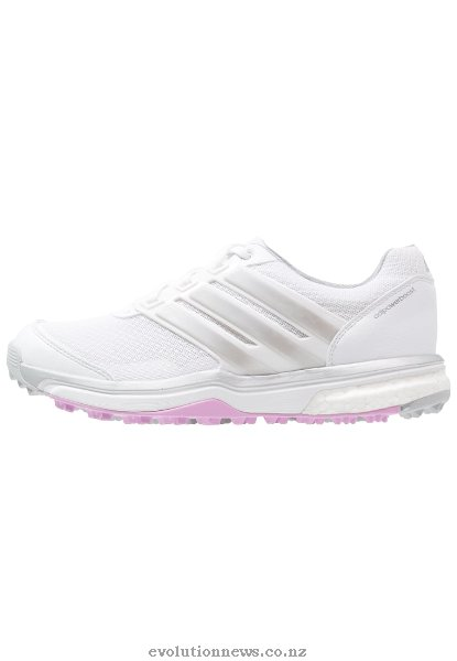 Adidas Women's Adipower Sport Boost 2 Golf Shoes | White/Matte Silver/Wild Orchid