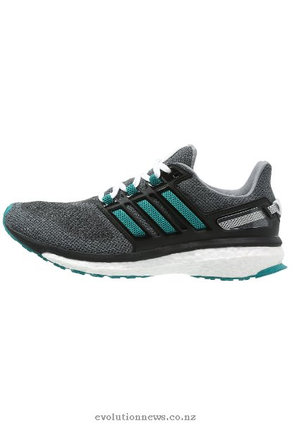 Adidas Women's Energy Boost 3 Cushioned Running Shoes | Grey/Green/Core Black