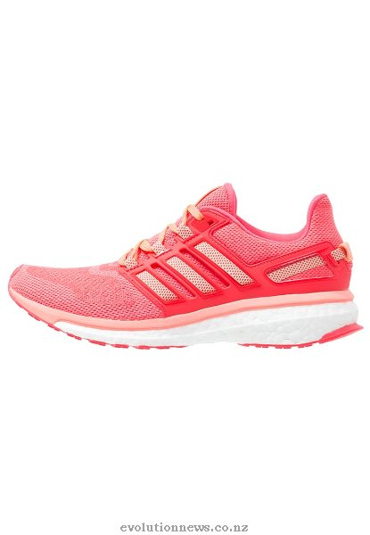 Adidas Women's Energy Boost 3 Cushioned Running Shoes | Sun Glow/Halo Pink/Shock Red