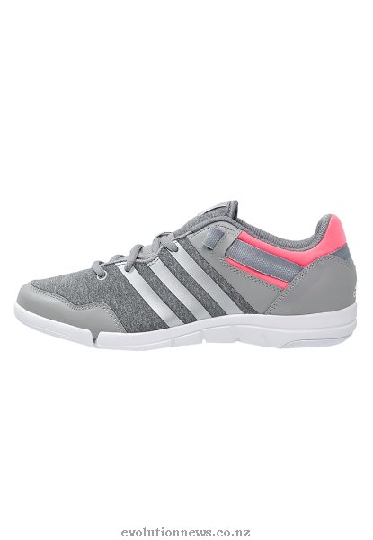 Adidas Women's ILAE Dance Shoes | Medium Grey Heather/Chalk White/Flash Red