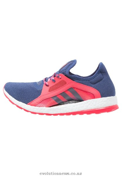Adidas Women's Pureboost X Trainers | Raw Purple/Shock Red