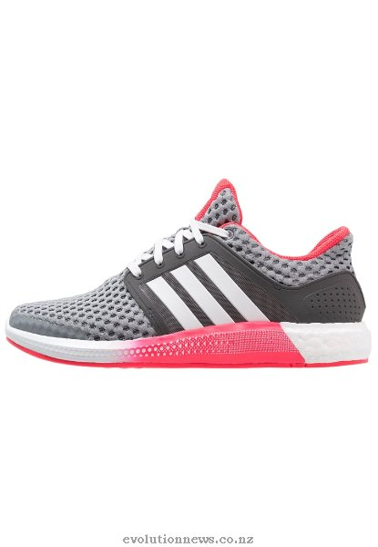 Adidas Women's Solar RNR Trainers | Grey/Crystal White/Shock Red